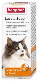 Витамины для шерсти кошкам Beaphar Laveta Super против линьки, 50г  фото