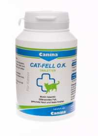 Витамины для кошек Canina Cat Fell O. K. биотин и микроэлементы для кошек, 100табл.  фото