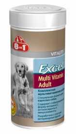 Мультивитаминный комплекс для взрослых собак 8in1 Excel Multi Vitamin Adult, 70табл. фото