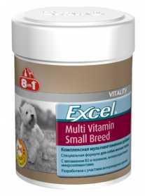 Мультивитаминный комплекс для собак мелких пород 8in1 Excel Multi Vitamin Small Breed, 70табл. фото