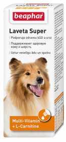 Витаминная добавка для собак Beaphar Laveta Super против линьки, 50мл фото