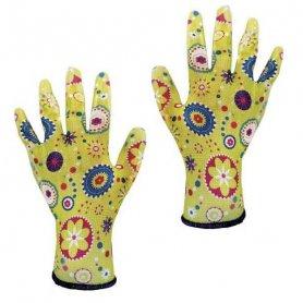 Перчатки садовые из полиэстера с нитриловым обливом, размер 8, Werk WE2108H, Werk WE2124H фото