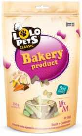 Лакомство для собак Косточки микс в пакете Lolo Pets Classic Bakery, М, 350г фото