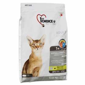 Сухой корм для взрослых котов 1st Choice Adult гипоаллергенный со вкусом утки и картошки, 5.44кг фото