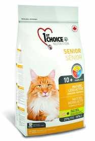 Сухой корм для пожилых котов 1st Choice Senior Mature Less Active со вкусом курицы, 5.44кг фото