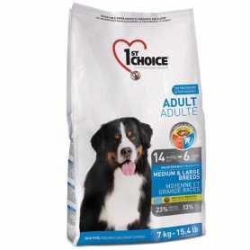 Сухой корм для взрослых собак средних и крупных пород 1st Choice Dog Adult Medium & Large Breeds со вкусом курицы, 7кг фото