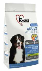 Сухой корм для взрослых собак средних и крупных пород 1st Choice Dog Adult Medium & Large Breeds со вкусом курицы, 15кг фото