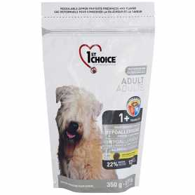 Сухой корм для взрослых собак всех пород 1st Choice Hypoallergenic со вкусом утки и картошки, гипоаллергенный, 350г фото
