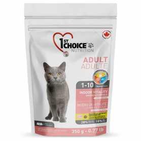 Сухой корм для взрослых котов 1st Choice Indoor Vitality Chicken со вкусом курицы, 350г фото