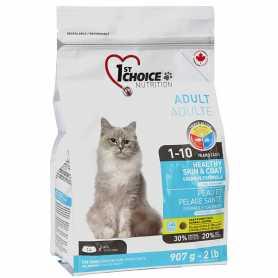Сухой корм для взрослых котов 1st Choice Healthy Skin&Coat Adult со вкусом лосося, 907г фото