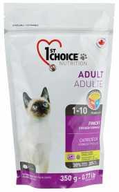 Сухой корм для взрослых привередливых котов 1st Choice Adult Finicky со вкусом курицы, 350г фото