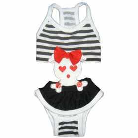 Купальник для собак Skull bathing suit MonkeyDaze, череп, черно-белый, XS фото