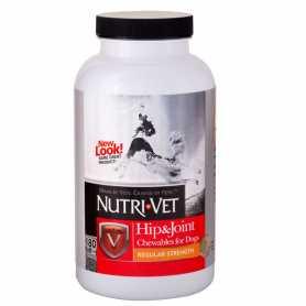 Витамины для суставов и связок собак Hip&Joint Regular Nutri-Vet, 1 уровень, хондроитин и глюкозамин для собак, с МСМ, 180табл. фото