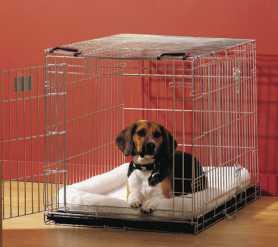 Клетка для собак Dog Residence Savic, цинк, 6,5кг, 50х33х40см фото