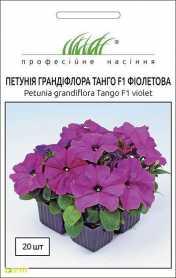 Семена петунии градифлора Танго фиолетовая, 20шт, Hem, Голландия, Професійне насіння, до 2019 фото