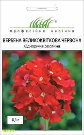 Семена вербены крупноцветковой красной, 0.1г, Hem, Голландия, Професійне насіння, до 2019 фото