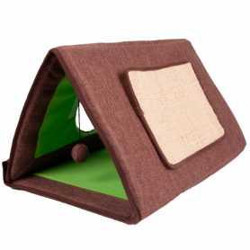 Палатка-домик когтеточка для котов Cat Tent Flamingo, спальное место 3в1, 50см фото