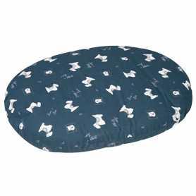 Лежак-подушка для собак Cushion Scott Karlie Flamingo, с водостойкой поверхностью и ZIP замком, с рисунком, 80см фото