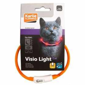 Светящийся ошейник для котов Visio Light Led Karlie Flamingo, оранжевый, 35см фото