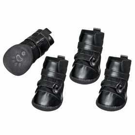 Ботинки для собак Xtreme Boots Karlie Flamingo, черный, комплект 4шт, М, 6х5см фото