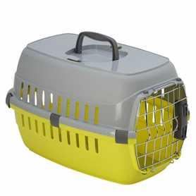 Переноска для собак и кошек Moderna roadrunner 1 с металлической дверью IATA, лимонный, 51х31х34см фото