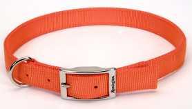 Светоотражающий ошейник для собак Remington Reflective, нейлон, оранжевый, 2см х 45см фото