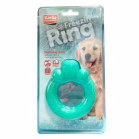 Игрушка для собак Teething Ring Karlie Flamingo, кольцо для прорезывающихся зубов, 12см фото