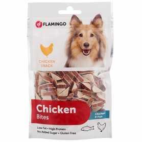 Лакомство для собак Chick'n Snack Jerky&Pollock Sandwich Karlie Flamingo с мясом птицы и рыбы, 85г фото