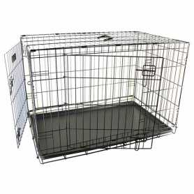 Клетка для собак Wire Cage Ebo Taupe Karlie Flamingo, 2-х дверная, 14,4кг, 109х70х77см фото