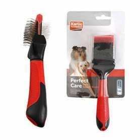 Пуходерка сликер для собак Soft Slicker Brush 2in1 Karlie Flamingo, малых и средних пород, 2в1, мягкая фото
