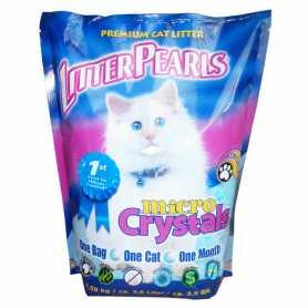 Кварцевый наполнитель для туалетов котов Litter Pearls Micro Crystals, 4.77кг фото