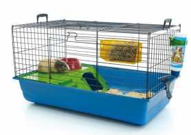 Клетка для кроликов Savic Nero 2 De Luxe, синяя, 80x50x44см фото