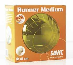 Пластиковый прогулочный шар для хомяков Savic Runner Medium, 18см фото