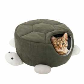 Домик для кошек Turtle Green Karlie Flamingo, спальное место в виде черепахи, 45х18см фото