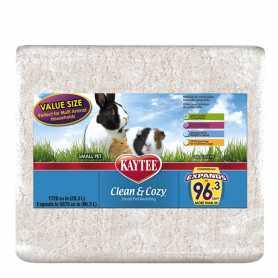 Подстилка для грызунов Kaytee Clean&Cozy White, целлюлоза, белая, 28,3л фото