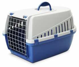 Переноска для собак Savic Trotter3, пластиковая, ярко-голубая, 60,5х40,5х39см фото