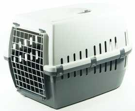 Переноска для собак Savic Trotter3, пластиковая, темно-серый, 60,5х40,5х39см фото