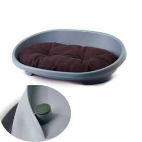 Лежанка для собак Snooze Savic, пластиковая, серо-синяя, размер XL, 98,5х70х30см фото