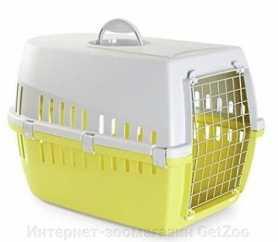 Переноска для собак Trotter3 Savic, пластиковая, лимонная, 60,5х40,5х39см фото