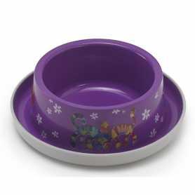 Миска для кошек с защитой от муравьев Trendy Dinner №1  Friends Forever Moderna, пластиковая, фиолетовая, диаметр 16см, 350мл фото