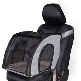 Сумка-переноска в автомобиль для собак и котов K&H Travel Safety, серый, S, 43,18x40,64x38,1см фото