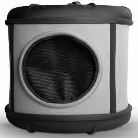 Домик-переноска для собак и кошек K&H Mod Capsule, серый/черный, 43,18x43,18x39,37см фото