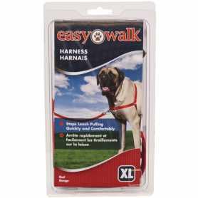Шлея антирывок для собак Easy Walk Premier, красный, экстра-большой фото