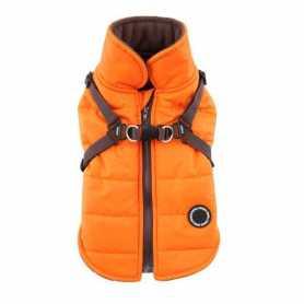 Жилет для собак Mountaineer Puppia, со шлейкой, оранжевый, XL фото