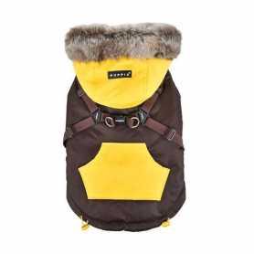 Жилет для собак Orson Puppia, с капюшоном и шлейкой, коричневый, XXL фото
