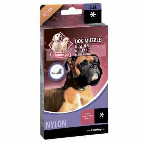 Намордник для пород собак с коротким носом, боксер Flamingo Muzzle Nylon Special, нейлон  фото