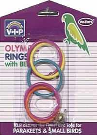 Игрушка для попугайчиков Vo-Toys, олимпиада с колокольчиком, пластик фото
