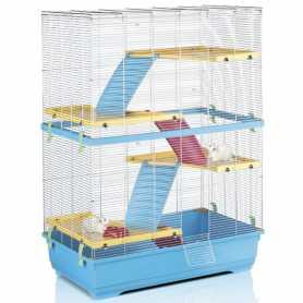 Клетка для крыс Imac Rat 80 Double, пластик, голубой, 80х48,5х110см, 9,6кг фото