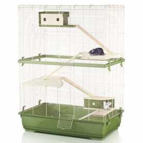 Клетка для крыс Imac Rat 80 Double Wood, пластик, зеленый, 80х48,5х108,5см, 12,55кг фото