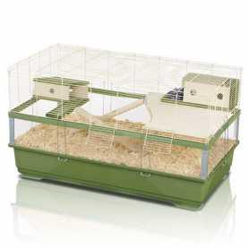 Клетка для крыс Imac Plexi 100 Wood, пластик, зеленый, 100х54,5х55,5см, 9,9кг фото